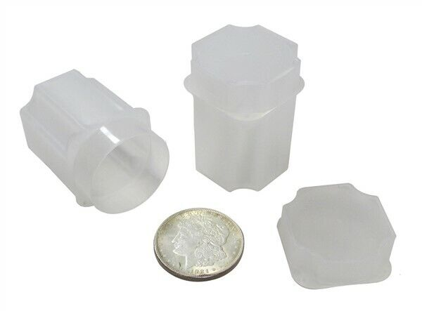 20 Guardhouse Translucent Plastic 38.1mm Silver Dollar Square Coin Storage Tubes