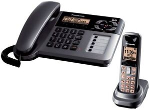 Panasonic Dect 6.0 Corded/Cordless phone with Answering Machine