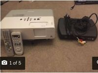 Epson EMP-83 Projector and Freeview Box