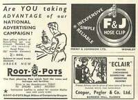 1953 Cooper Pegler Burgess Hill Feeny Johnson Wembley Clips Ad - johnson - ebay.co.uk