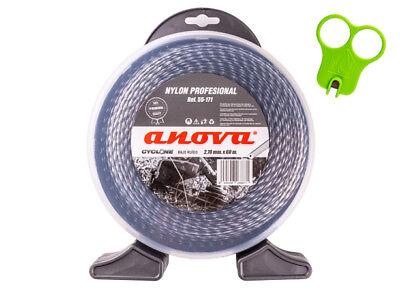 Anova-Nylon desbrozadora profesional Cyclone 2,70mm x 60mt