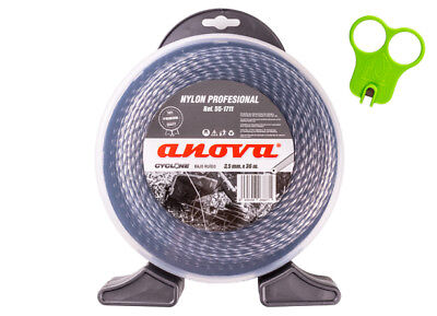 Anova-Nylon desbrozadora profesional Cyclone 3,50mm x 36mt