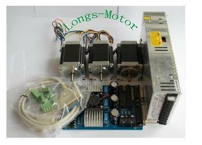 Dual Sahft Stepping Motor Nema23 270oz-in 3a Boardtb6560 Cnc Kit-longs Motor