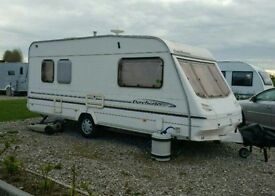 Sterling Dorchester 500 5 berth Caravan with Royal Windsor Porch Awning