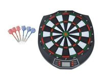CHEAPEST PRICE - HOMCOM Electronic Dart Board Set W/LED Digital Display&Sound, 18 Games