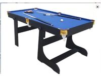 6ft pool & snooker table for sell. In immaculate condition and still in box. Wrong size brought.