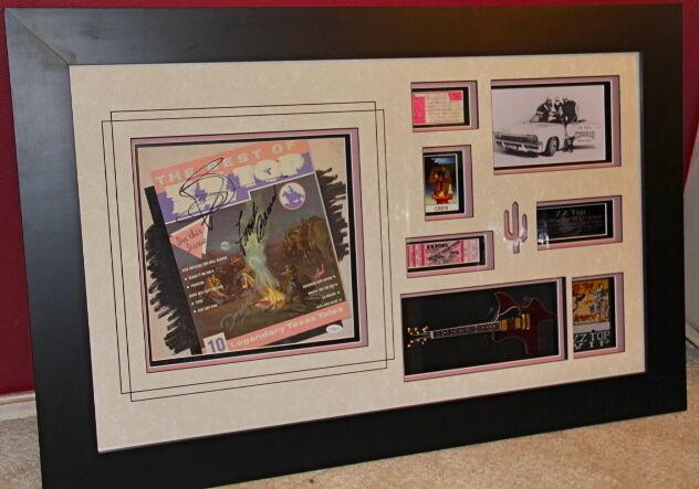 ZZ TOP signed autographed BEST OF LP TEXAS guitar ticket VIP pass JSA COA Billy