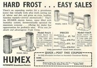 1953 Humex Automatic Greenhouse Heaters Byfleet Surrey Ad -  - ebay.co.uk