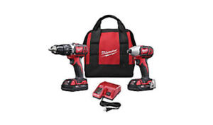 Milwaukee M18 18V Lithium-Ion Cordless Hammer Drill & impact