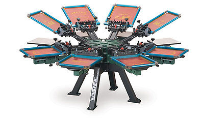 Vastex V-2000 Super Heavy Duty Screen Printing Press 8 Station 8 Color