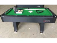 6ft carbon look pool table NEW