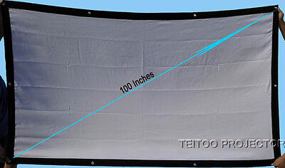 100 Inch 4:3 Best Projection Screen for All Home Theater LCD LED Video