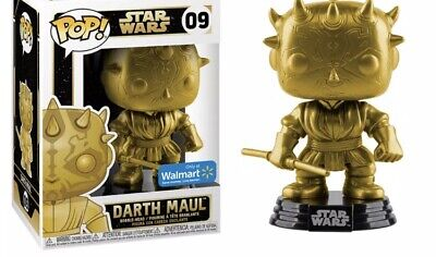 Funko POP! Star Wars - Walmart Exclusive - #09 Gold Darth Maul Christmas Collect