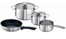Bosch HEZ390042 set of four Induction pans (1 saucepan, 2 pots & 1 frying pan)