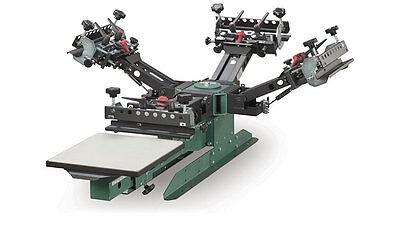 Vastex V-2000 Super Heavy Duty Screen Printing Press 1 Station 4 Color
