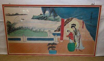 schönes Bild Seidenmalerei wohl China