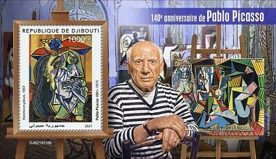 Djibouti 2021 MNH Art Stamps Pablo Picasso Paintings 1v S/S