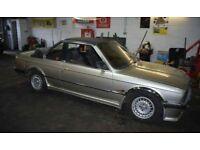 Bmw e30 318 baur bronze cabriolet breaking for spares