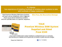 Yale Wireless Premium GSM Burglar Alarm Kit Supply and Install