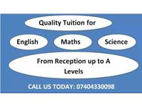 English, Maths & Science classes FREE