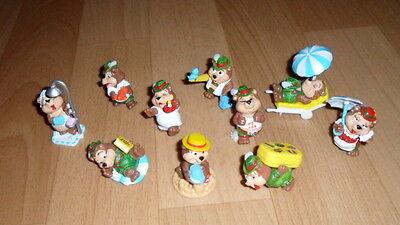 """Ü-Eier-Figuren""""Top Ten Teddys im Traumurlaub"""",für Sammler,Top Zustand"""