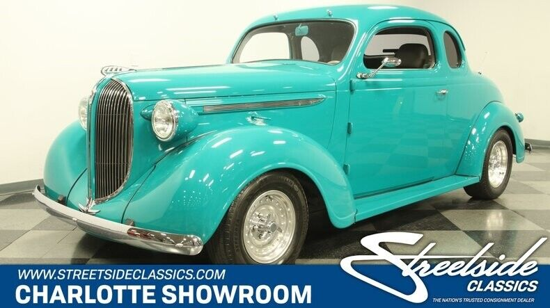 1938 Plymouth Business Coupe  classic vintage chrome restored hot street rod Auto Meter Sony