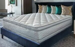 LUXURY Queen POCKET COIL Mattress Sale We sell REAL PILLOW TOPS