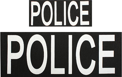 Police Patches Hook Back - 1 Large 1 Small Patch For Vests Or Jackets