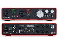 Focusrite Scarlett 6i6 audio/midi USB Interface, hardly used in immaculate condition