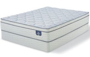 Brand new SERTA euro top mattress and box $398 only GREAT SAVING
