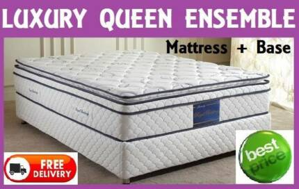 FREE DELIVERY - QUEEN Size Orthopedic Bed Ensemble - BRAND NEW New Farm Brisbane North East Preview