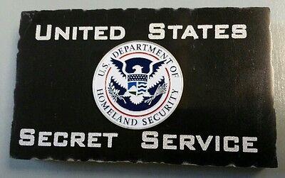 United States Secret Service w DHS Emblem - Marble Desk Plaque Accessory 5X3X.75