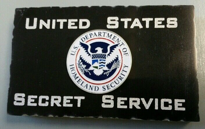 USSS Secret Service w DHS Emblem Marble Desk Plaque Accessory 5X3X.75
