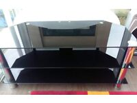 black glass and chrome tv unit immaculate condition