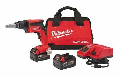Milwaukee 2866-22 M18 18v Fuel Drywall Brushless Screw Gun Kit 2x 5.0ah Battery