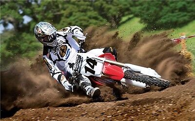 "MOTOCROSS DIRT BIKE JUMP SPORT PHOTO ART PRINT POSTER 21""x13"" 007"