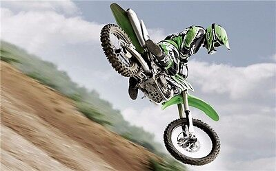 "MOTOCROSS DIRT BIKE JUMP SPORT PHOTO ART PRINT POSTER 21""x13"" 028"
