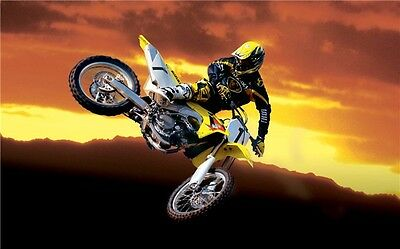 "MOTOCROSS DIRT BIKE JUMP SPORT PHOTO ART PRINT POSTER 40""x24"" 029"