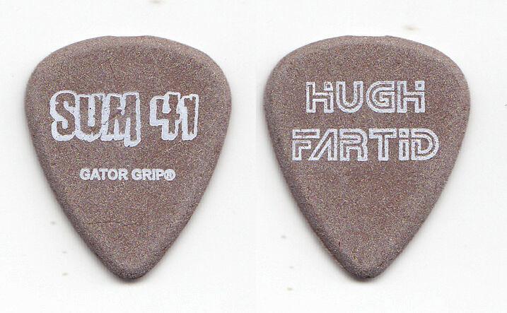 "Sum 41 Dave ""Brownsound"" Baksh Hugh Fartid Brown Guitar Pick - 2003 Tour"