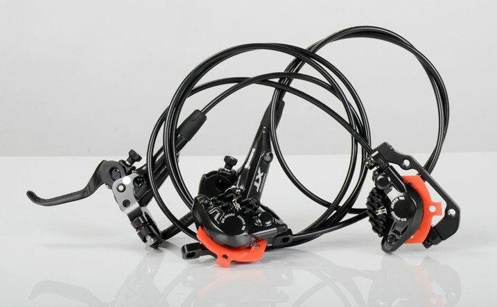 New Shimano XT M8000 MTB Disc Brake Set Front/&Rear Set With Resin Pad-Black