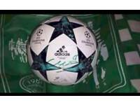 Autographed Celtic Champions League ball