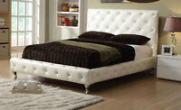★★★BOXING DAY SALE ON NOW NEW LEATHER BED WITH DIAMONDS★★★