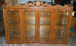 Beautifully carved hutch top.