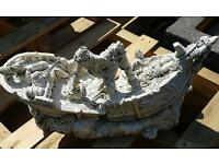 Wrecked Ship Fish Ornament Large