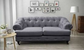 NEW CHESTERFIELD STYLE 2 SEATER SOFA