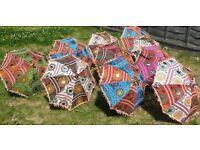 Indian Handmade Embroidered Cotton Umbrella Colorful Wedding Parasol