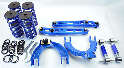 Honda Crx Integra Camber Kits & Control Arms & Lowering Coilover Springs Blue