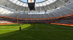 *FRONT ROW* *AISLE SEATS* BC LIONS VS Edmonton Eskimos Oct 22