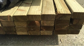 """🌲Wooden Easy Edge Pressure Treated Lengths/ Rails ~ 4""""X 2""""X 4.2M ~ New ~🌲"""