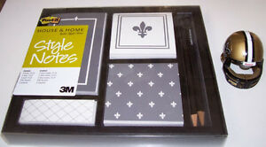 New Orleans Saints Mini Transformer Helmet and Post It Note Set London Ontario image 3